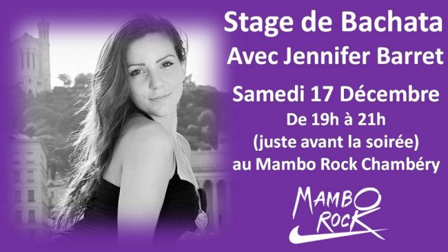 Flyer Stage de Bachata avec Jennifer Barret
