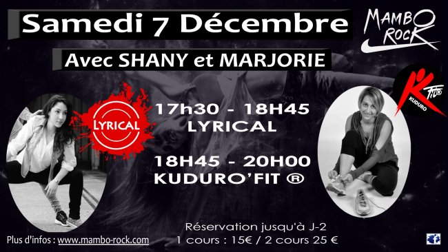 Flyer Stage LYRICAL et KUDURO'FIT avec SHANY et MARJORIE