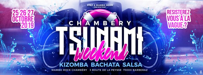 Flyer Tsunami Weekend - Kizomba Bachata Salsa Afro Tropical